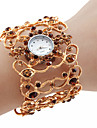 Alloy Band Quartz Bracelet Watch For Women(Gold)
