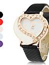 en forme de cœur bande en alliage de montre-bracelet à quartz pour les femmes