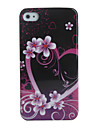 Heart and Flower Pattern Hard Case for iPhone 4 / 4S