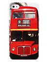 Protective Hard ABS Case for iPhone 4 and 4S (Red Bus)