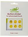 autocollant bouton home pour iphone, ipad et ipod (6 pack, visage souriant)