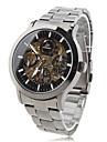 Men's Alloy Analog Mechanical Wrist Watch (Black)