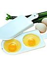 mikrovågsugn äggpanna omeletter box dubbla 2 äggkokande verktyg