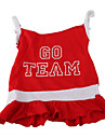 Dog Dress Red Dog Clothes Summer Spring/Fall Letter & Number Sports