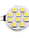 2700 lm G4 LED Spotlight 10 LED Beads SMD 5050 Warm White 12 V