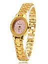 Mulheres Relógio de Moda Relógio de Pulso Bracele Relógio Quartzo Banda Elegantes Dourada Dourado