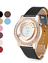Women's Heart-Shaped Style PU Leather Analog Quartz Wrist Watch (Assorted Colors)