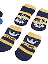 Dog Socks Casual/Daily Keep Warm Stripe Black Blue For Pets