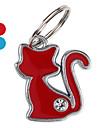тонкая кошка с собакой алмазов ID Tag брелок (разных цветов)