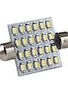 41мм 24x1206 SMD белый свет гирлянды светодиодные лампы для чтения автомобилей / багажник / номерного знака лампы (DC 12V)