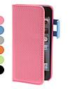 colméias padrão de capa de couro pu com slot para cartão e pendurar corda para iPhone 5/5s (cores sortidas)