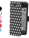 Dot Pattern PU Leather Case for iPhone 5/5S (Assorted Colors)
