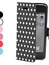точка шаблон пу кожаный чехол для iphone 5/5s (разных цветов)