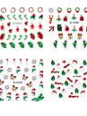 4PCS Christmas 3D Пластиковые Твинкл Nail Art декоративные аппликации