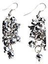 Gris Boucles d'oreilles en cristal de forme de raisin