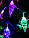 7M 30-LED Leaf-Shaped Colorful Light LED Strip Fairy Lamp for Festival Decoration (220V)