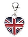Dog tags England Flag Pattern Heart Style Collar Charm for Dogs Cats