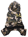 Dog Pants / Clothes/Clothing Green Winter Camouflage