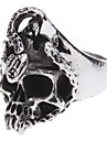 Ghost Head Snake Antique Silver Armors Ring