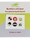 Cartoon Pattern Home Button Stickers for iPhone 5 and Others