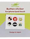 아이폰 5와 기타를위한 만화 패턴 홈 버튼 스티커