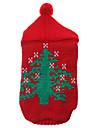 Chat / Chien Pull / Pulls à capuche Rouge Vêtements pour Chien Hiver Noël