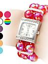 Assista mulheres pulseira de plástico de quartzo analógico (cores sortidas)