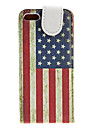 Retro Style US National Flag Pattern PU Leather Case for iPhone 5/5S