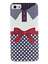 Shirt Design Bowknot Pattern Hard Case for iPhone 5/5S