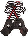 Cat / Dog Pants Red / Black / White Spring/Fall Stripe / Nautical