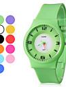 Мужской стиль Резиновые наручные аналоговые кварцевые часы (разных цветов)