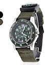 남녀 나침반 위장 다이얼 직물 악대 석영 아날로그 손목 시계 (분류 된 색깔)