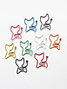 clips coloridos do estilo gato de papel (cor aleatoria, 10-pack)