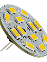 1.5w g4 led spotlight 12 smd 5730 130-150lm теплый белый 2700k dc 12v