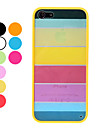 Rainbow Design Durable Hard Case for iPhone 5 (Assorted Colors)