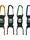 Alumnium Alloy Outdoor Portable Bottle Gripper with Compass/Carabiner