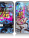 Rabisco design dianteiro e Full Back Etiquetas para iPhone 5