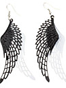 Black And White Wings Alloy Earrings