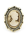 Vintage Alloy Lady Ring Pattern Portrait (couleurs assorties)