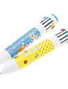 Медведь Pattern 12 цветов Автоматическая шариковая ручка (случайный цвет)