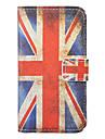 iPhone 4/4S를위한 빈티지 영국 깃발 본 전신 케이스