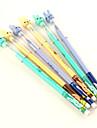 Sorrindo Coelho Cabeça caneta esferográfica de tinta azul (cores aleatórias)