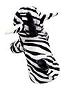 Engraçado bonito 3D Zebra Pattern capuz Suit for Dogs (XS-XL)