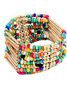 Bohemian Style Alloy Bead Multi-row Bracelet(Assorted Colors)