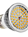 E27 6W 48x2835SMD 580-650lm 2700-3500K Warm White LED Light Bulb Pontual (110-240V)