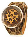 Women's Leopard Print PU Band Analog Quartz Wrist Watch Cool Watches Unique Watches