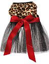 Gatos / Cães Vestidos Preto Roupas para Cães Primavera/Outono Animal Casamento