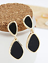 Drop Earrings Acrylic Alloy Fashion White Black Jewelry Party Daily