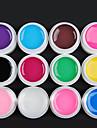 12-Color Transparente Glaze Gel UV