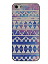 Psychedelic Geometric Figure Coloured Drawing Pattern Black Frame PC Hard Case for iPhone 5/5S
